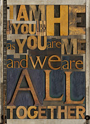 Letterpress Prints - I am He Print by Russell Pierce