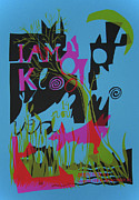 Live Music Mixed Media Posters - I Am Kloot gigposter Poster by Sidsel Genee