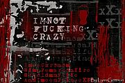 Anger Digital Art - I am not fucking crazy by Lynn Gettman