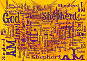 Word Cloud Prints - I Am Shepherd 2 Print by Angelina Vick