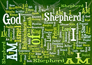 Word Cloud Prints - I Am Shepherd Print by Angelina Vick