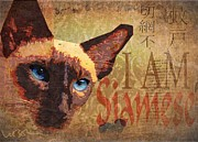 Siamese Cat Print Prints - I Am Siamese Print by Wendy Presseisen