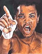 Ali Painting Originals - I Am the Greatest - Muhammad Ali by Kenneth Kelsoe