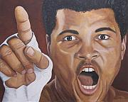 Boxer Portrait Paintings - I Am the Greatest 2 by Kenneth Kelsoe