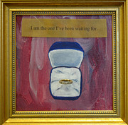 Affirmation Mixed Media Framed Prints - I am the One Framed Print by Paula Brett