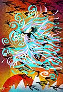 Shamanic Prints - I Am WIND Print by Angela Treat Lyon