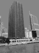 Pencil Drawing Photos - I B M  and  N B C  Tower by David Bearden