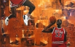 Athletes Painting Prints - I Believe I Can Fly - Michael Jordan Print by Ryan Jones