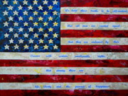 4th Of July Painting Acrylic Prints - I believe Acrylic Print by Patti Schermerhorn