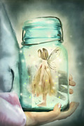 Mason Jar Prints - I Believe Print by Stephanie Frey