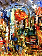 Abstract American Flag Paintings - I Cant Forget by Tommy Buell McDonell