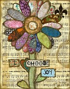 Joy Mixed Media - I Choose Joy by Martina Schmidt