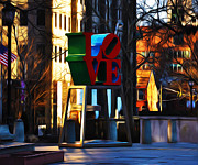 Love Park Framed Prints - I Did It For Love Framed Print by Bill Cannon