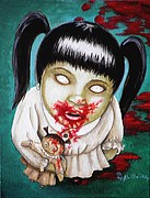 Creepy Painting Acrylic Prints - I didnt do it Acrylic Print by Al  Molina