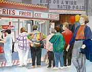 Hot Dog Stand Paintings - I Dont Need Fries by Carole Overall