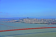 Golden Gate Photo Originals - I DONT SEE NO STINKIN FOG Golden Gate San Francisco California by Duncan Pearson