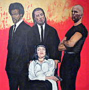 Vincent Vega Paintings - I Dont Smile for Pictures by Tom Roderick