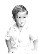 Pencil Drawings Drawings - I Dont Want My Picture Taken... by Arline Wagner