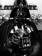 Art Drawings Drawings Framed Prints - I Find Your Lack of Hunger Disturbing - Darth Vader  Framed Print by Ryan Jones