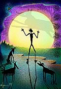Shamanic Prints - I Foresee A New Friend Print by Angela Treat Lyon