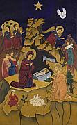 Byzantine Paintings - I Genisis tou Christou by Marinella Owens