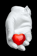 Isolated On Black Background Posters - I give you my heart Poster by Richard Thomas