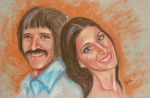 Famous Pastels Originals - I Got You Babe by Sandra Valentini
