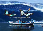 Greek Butterflies Framed Prints - I Guess Thats Why They Call It The Blues Rocks Framed Print by Eric Kempson
