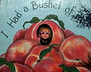 Peaches Photo Prints - I Had a Bushel of Fun Print by Kim Wilcox