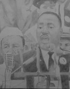 Men Talking Drawings - I Have A Dream by Milton  Gore