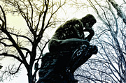 Rodin Prints - I Have a Thought Print by Bill Cannon