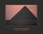Self Help Posters - I Have Abundance  I Make It Happen Poster by Donna Corless