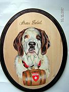 Pet Portraits Pyrography - I have come to rescue you by John Tatham