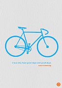 Vintage Bicycle Art - I Have Only Good Days And Great Days by Irina  March