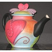 Creek Ceramics - I Heart Teapots by Double Creek Pottery
