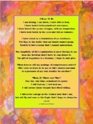 Healing Posters Digital Art Framed Prints - I Hope To Be -  3 Framed Print by  Laurie Homan