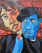 Jay-z Painting Originals - I Invented Swag by Jason JaFleu Fleurant