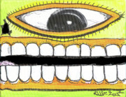 Outsider Mixed Media Prints - I Like 2 Smile RS Print by Robert Wolverton Jr