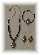 Handcrafted Jewelry Originals - I like Seashells - This three pices set is gorgeous by Evie Harper