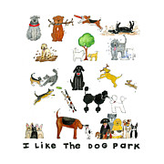 French Bulldog Paintings - I Like the Dog Park by Barbara Esposito