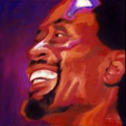 Singer  Paintings - I love Bobby McFerrin by Angela Treat Lyon