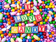 Candy Prints - I Love Candy Print by Edward Fielding