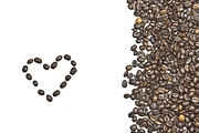 Coffee Beans Posters - I love coffee Poster by Joana Kruse