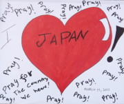 March Drawings Prints - I Love Japan by Erik Akerman Print by Beth Akerman