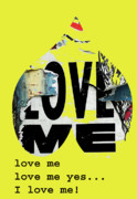 Urban Art Mixed Media Metal Prints - I love me Metal Print by adSpice Studios