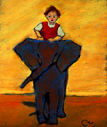 Riding Pastels - I Love My Very Own Elephant by Cheryl Whitehall