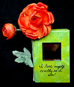 Affirmation Mixed Media Posters - I Love Myself Poster by Paula Brett