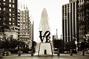 Love Park Prints - I Love Philadelphia Print by Bill Cannon