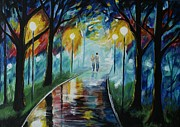 Lighted Pathway Prints - I Love The Way You Love Me Print by Leslie Allen
