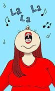 Special Occasion Drawings - I Love to Sing by Ana Tirolese